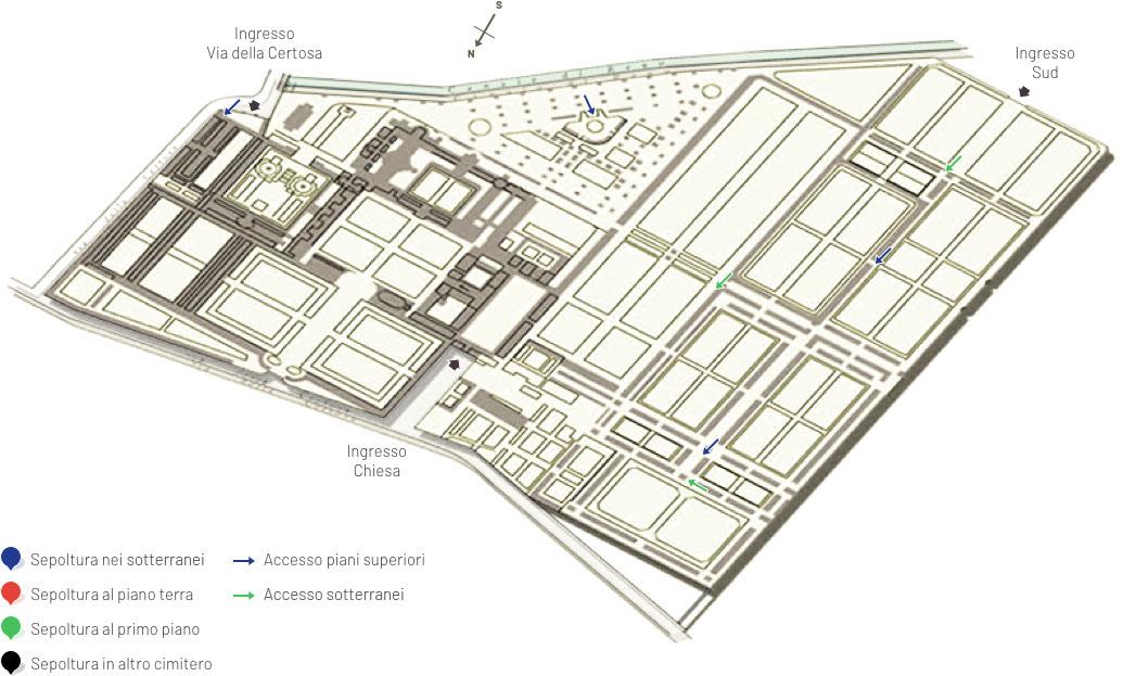 Mappa della certosa di bologna